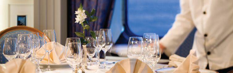 Restaurant du bateau de croisière Silver Discoverer