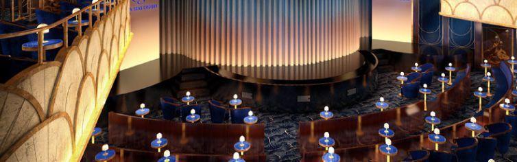 Théâtre du bateau de croisière Seven Seas Explorer
