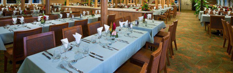 Restaurant du bateau de croisière Aranui 5