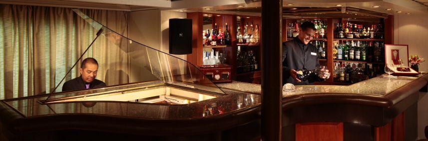 Bar du bateau de croisière SeaDream II