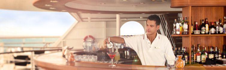 Bar du bateau de croisière Seabourn Sojourn
