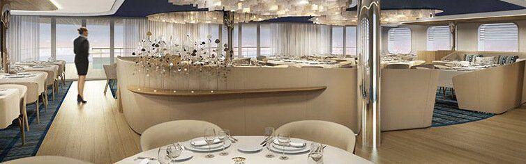 Restaurant du bateau de croisière Le Champlain
