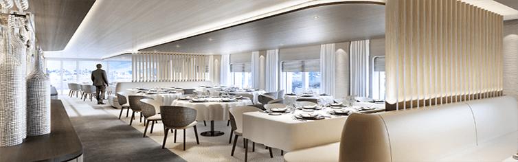 Restaurant le Bellot de la compagnie Ponant