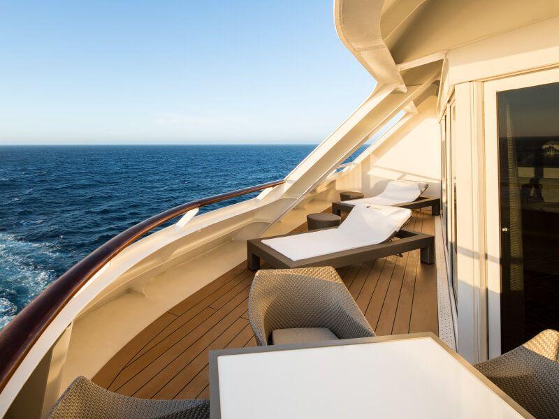 Balcon Suite du bateau de croisière Azamara Journey