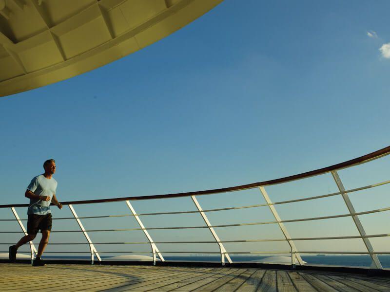 Jogging à bord du bateau de croisière Silver Whisper