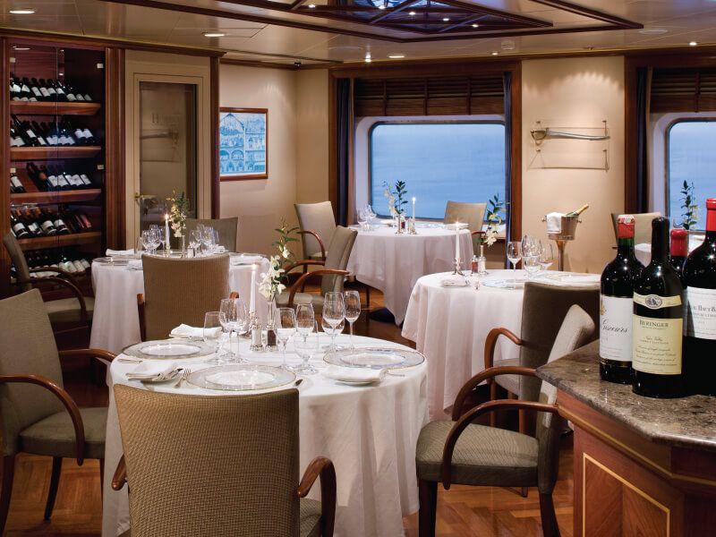 Le Champagne du bateau de croisière Silver Whisper