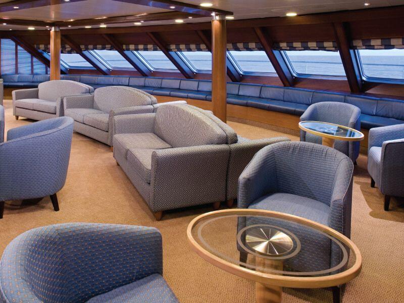 Observation Lounge du bateau de croisière Silver Explorer