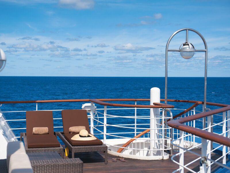 Sun Deck du bateau de croisière Silver Discoverer