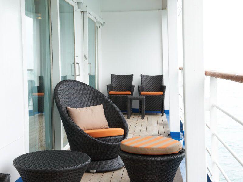 Balcon Suite du bateau de croisière Silver Shadow