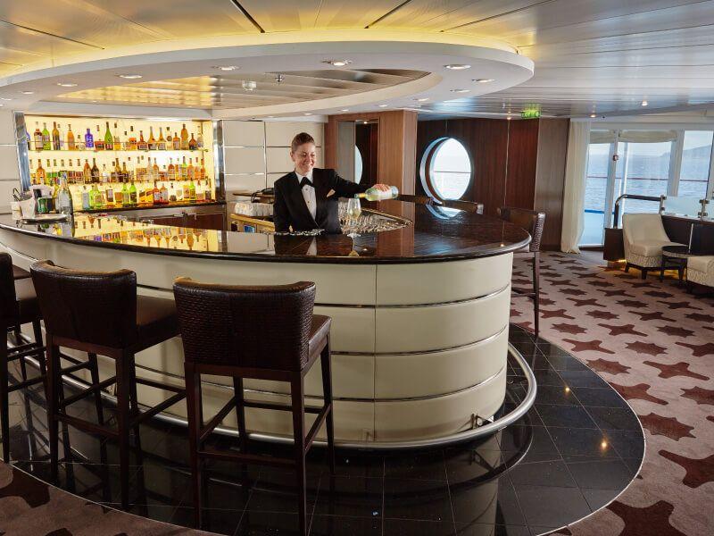 Bar Observation du bateau de croisière Seven Seas Mariner