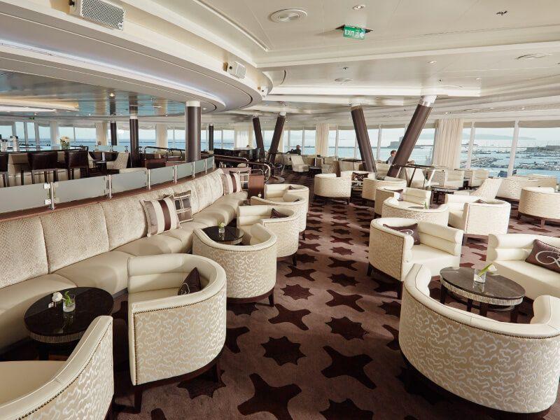 Observation Lounge du bateau de croisière Seven Seas Mariner