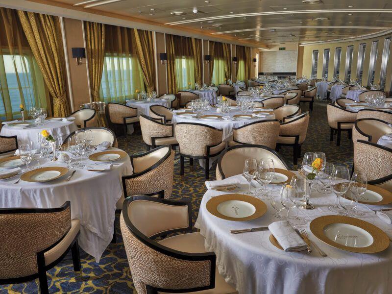 Restaurant  La Chartreuse du bateau de croisière Seven Seas Voyager