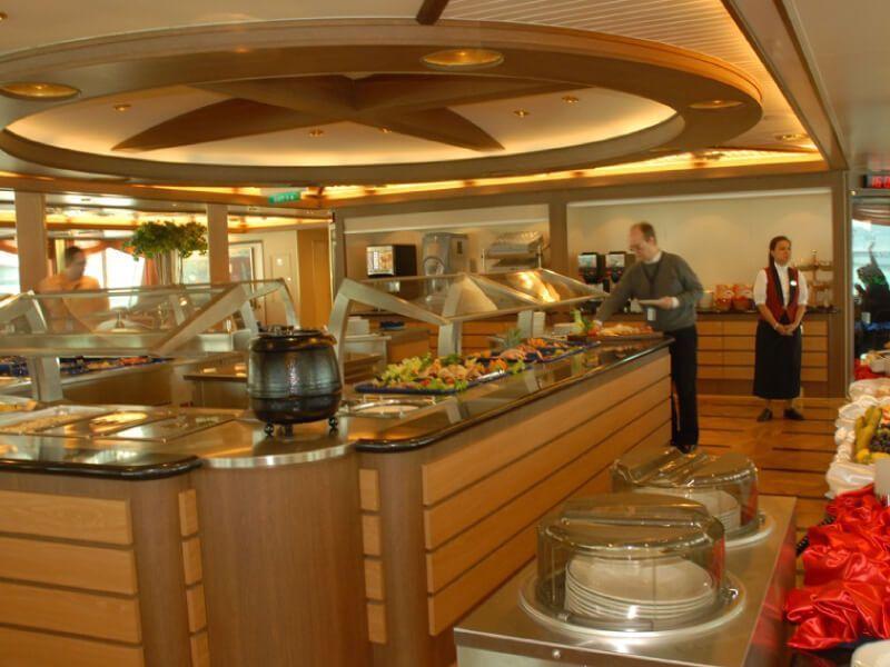 Buffet du bateau de croisière MS Fram