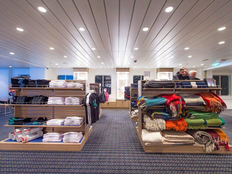 Boutique du bateau de croisière MS Kong-Harald