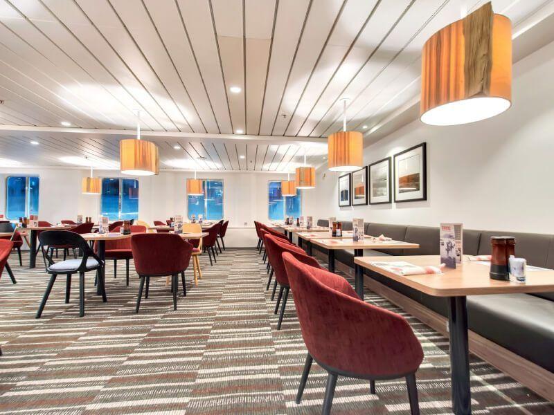 Restaurant DRIKKE du bateau de croisière MS Kong-Harald