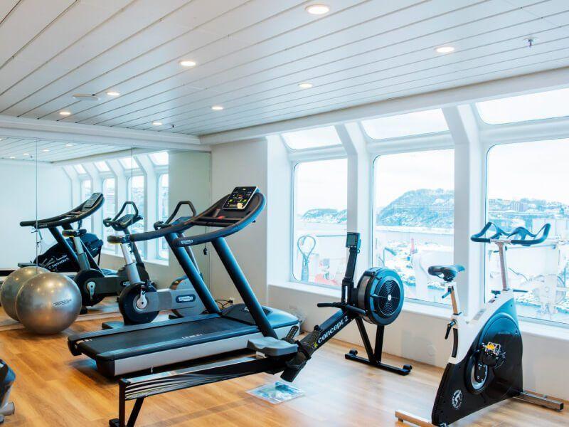 Salle de Fitness du bateau de croisière MS Kong-Harald