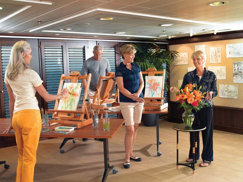 Atelier de l'artiste du bateau de croisière Insignia