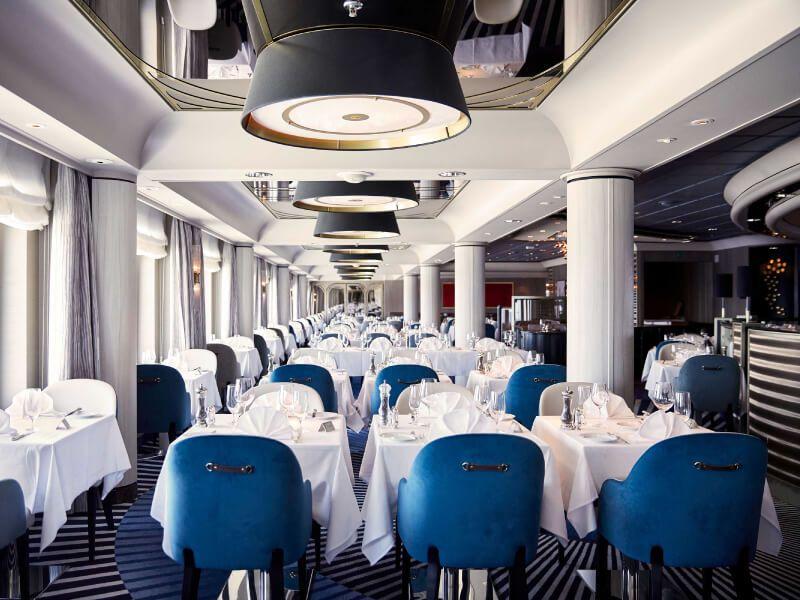 Restaurant du bateau de croisière Crystal Symphony