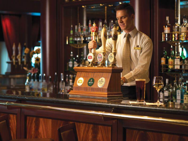 Bar Lounge du bateau de croisière Queen Mary 2