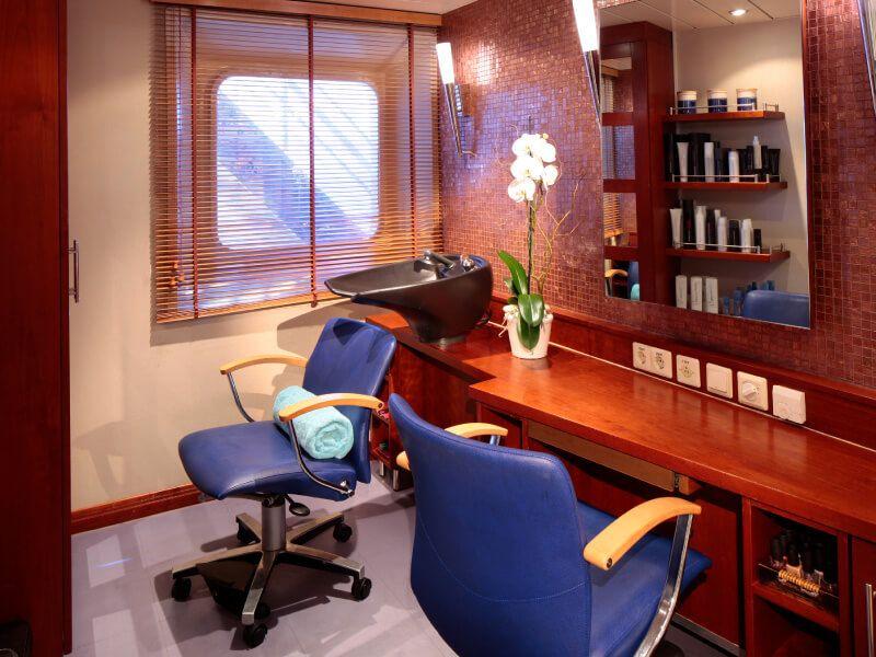 Salon de coiffure du bateau de croisière SeaDream I