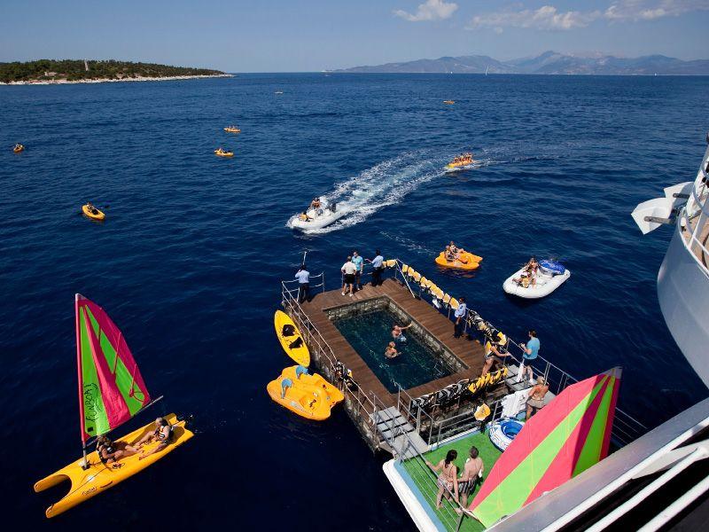 Marina du bateau de croisière Seabourn Odyssey