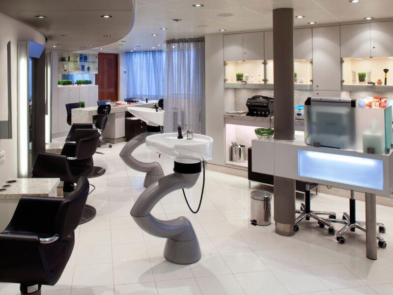 Salon de coiffure du bateau de croisière Seabourn Sojourn