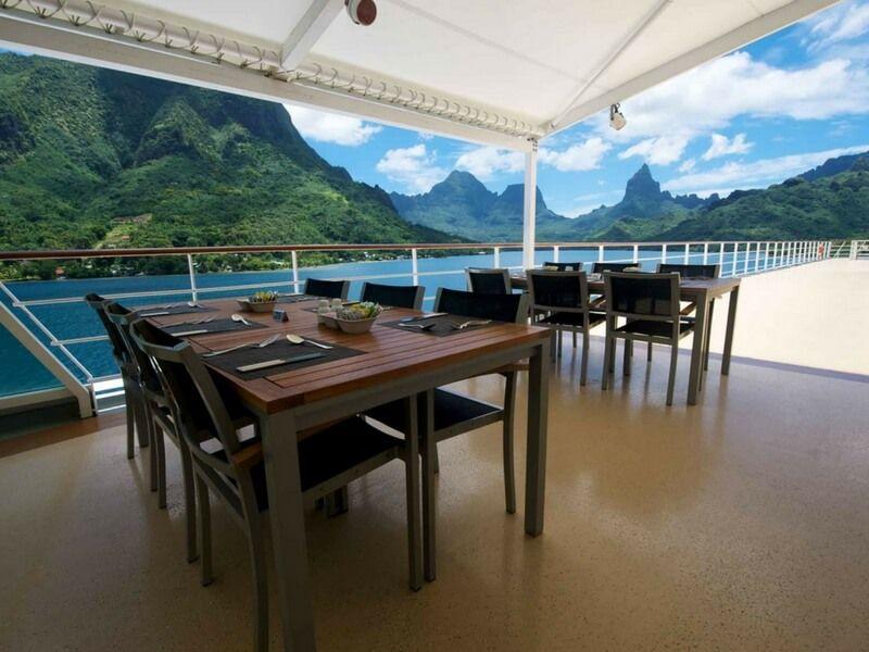 Restaurant le Grill du bateau de croisière Paul Gauguin