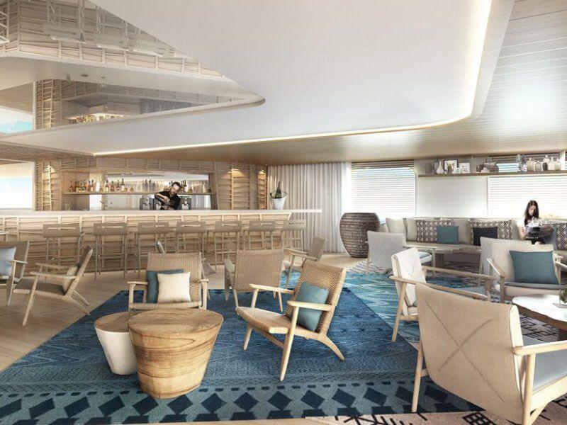 Bar du bateau de croisière de luxe Le Champlain