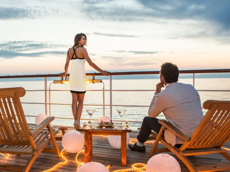 Apéro à bord du bateau de croisière Club Med 2