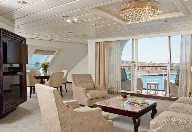 Suite Grand Suite du bateau de croisière Seven Seas Mariner
