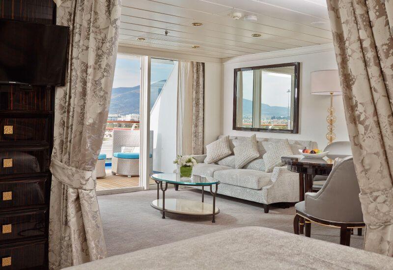 Suite HORIZON du bateau de croisière Seven Seas Mariner