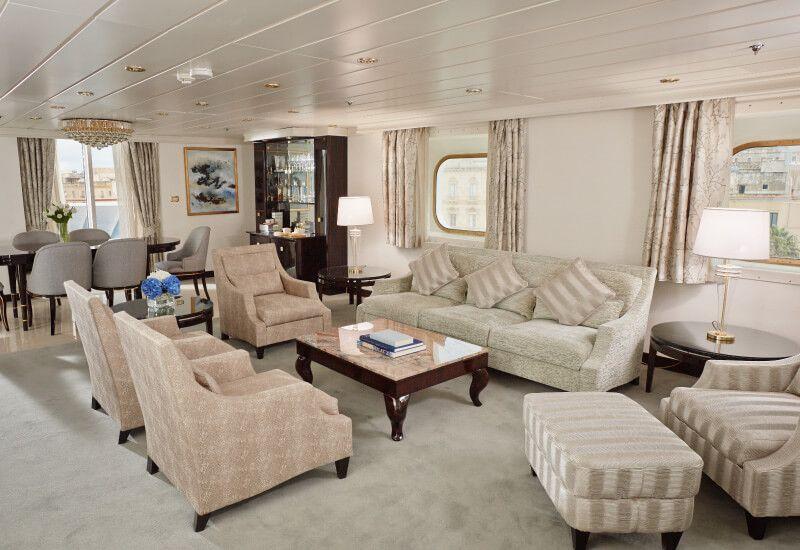 Suite MASTER du bateau de croisière Seven Seas Mariner