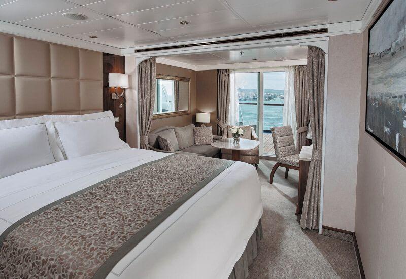 Suite PENTHOUSE du bateau de croisière Seven Seas Voyager