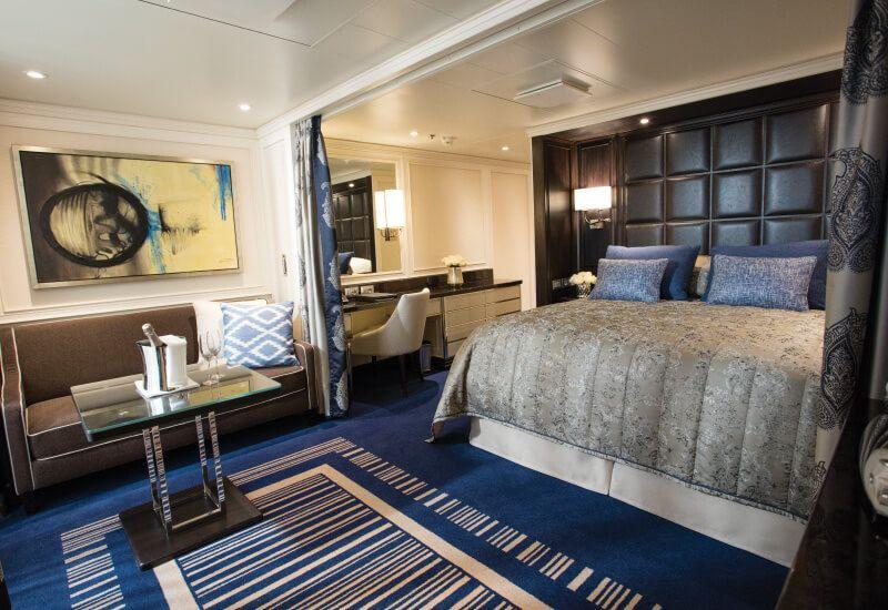 Suite DELUXE VERANDA du bateau de croisière Seven Seas Explorer