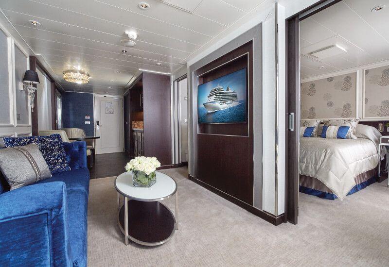 Suite PENTHOUSE du bateau de croisière Seven Seas Explorer