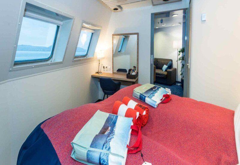 Suite  du bateau de croisière MS Nordnorge