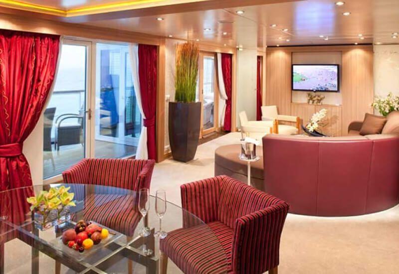Grande Suite du bateau de croisière Seabourn Odyssey