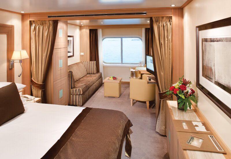 Suite extérieure du bateau de croisière Seabourn Odyssey