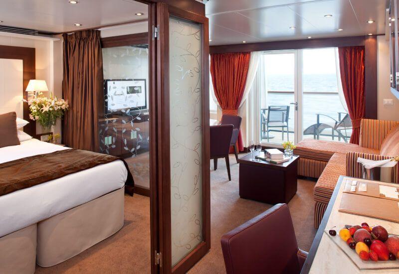Suite Penthouse du bateau de croisière Seabourn Odyssey